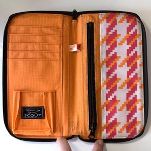 Scout Type A Travel Wallet Orange/Pink/White
